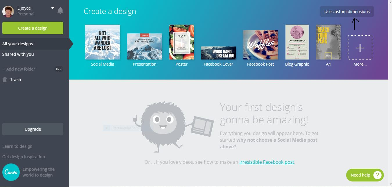 Canva Screen shot
