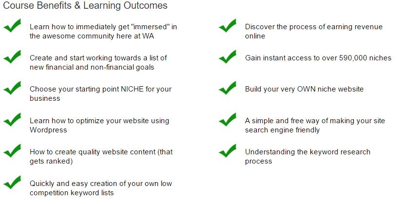 WA Course Objectives