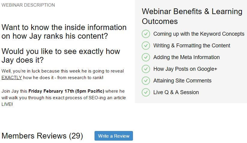 SEO Webinar Description