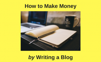 How to Make Money by Writing a Blog Featured Image