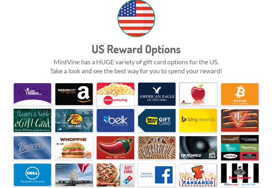 MintVine-Giftcard-Options