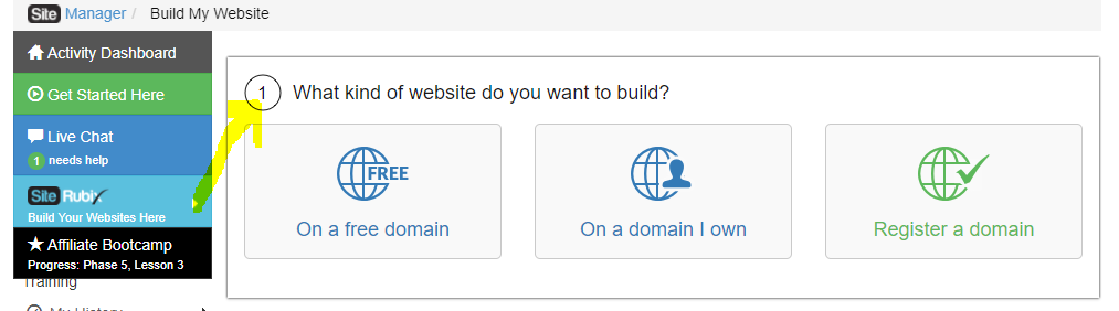 Build a Website - Step 1