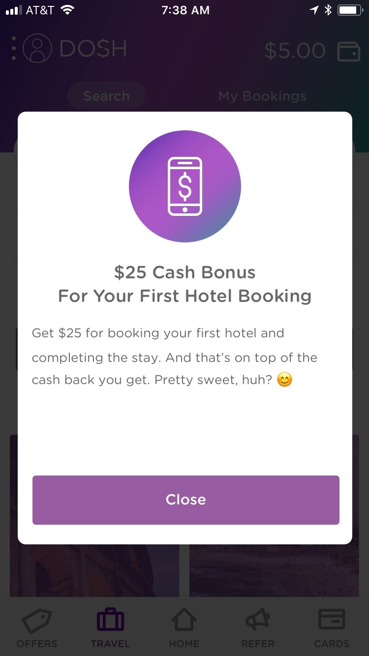How to Earn With Dosh - Book a Hotel