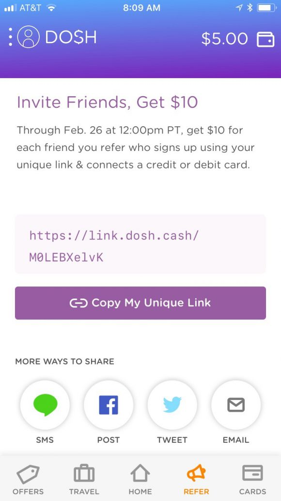 What is the Dosh Cash Back App - Refer Friends and Earn