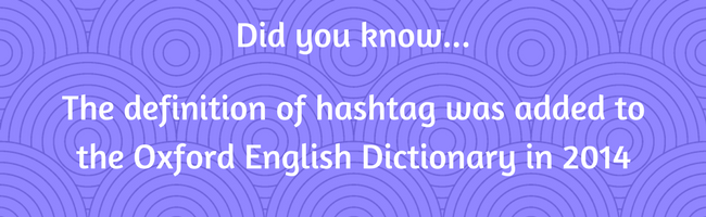 What is the definition of hashtag