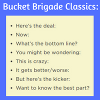 Bucket Brigade Classic Phrases