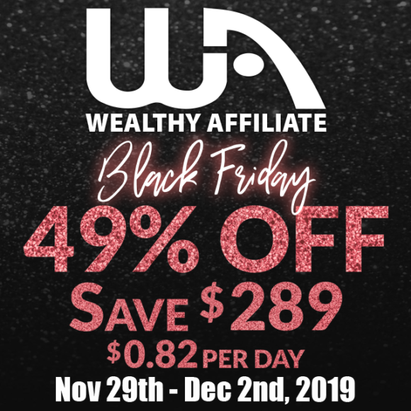 Black Friday Offer from Wealthy Affiliate