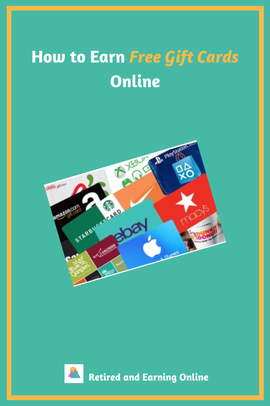 Pinterest Graphic - How to Earn Free Gift Cards Online