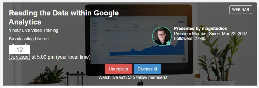 WA Live Training Event on Google Analytics