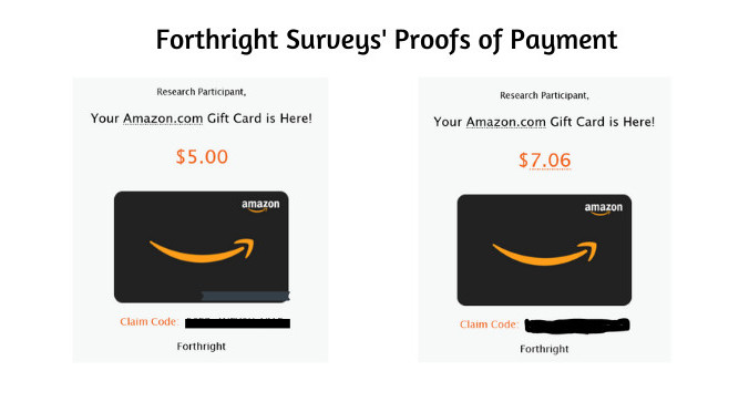 Forthright Survey's Proofs of Payment