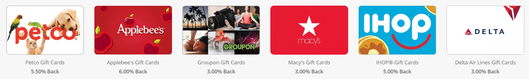 Swagbucks Gift Card Purchases earn rebates